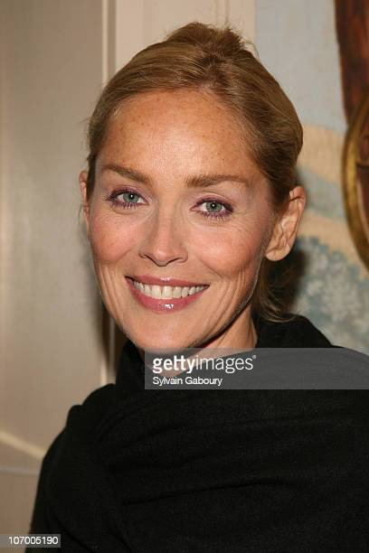 Sharon Stone v during Harvey Weinstein Hosts a Private Dinner and Screening of Bobby for Senators Obama and Schumer at Plaza Athenee at 37 East 64th...