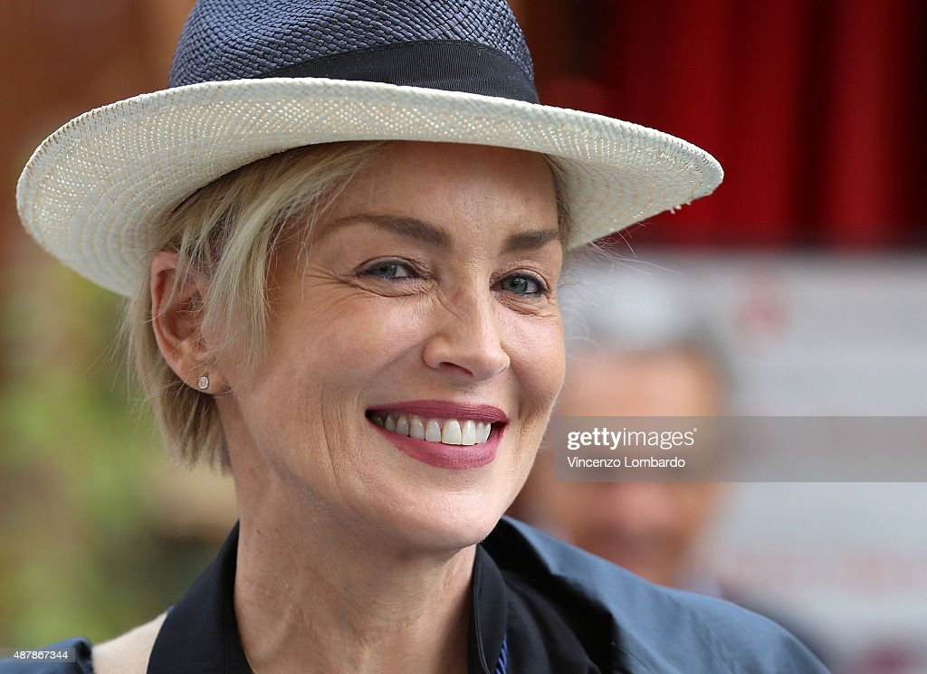 Sharon Stone Visits Expo 2015 on September 12, 2015 in Milan, Italy.