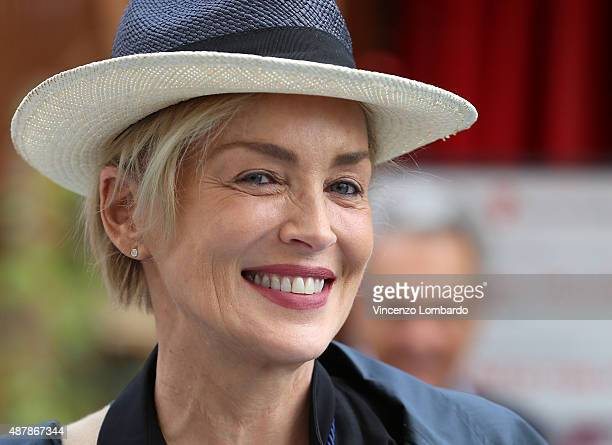 Sharon Stone Visits Expo 2015 on September 12 2015 in Milan Italy