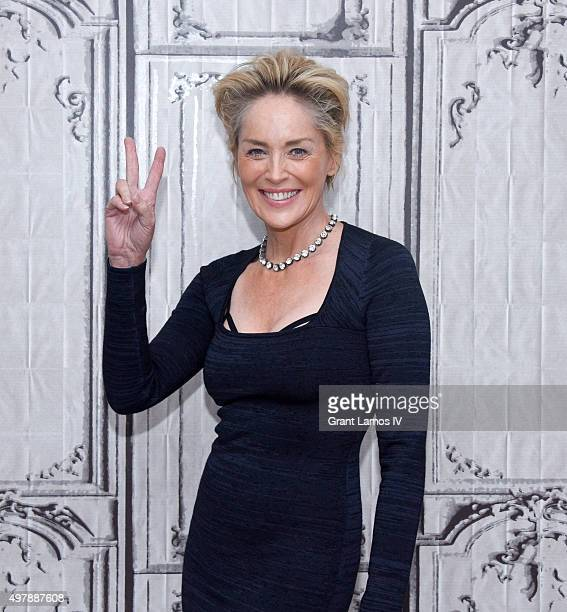 Sharon Stone visits the AOL BUILD Series Sharon Stone 'Agent X' on November 19 2015 in New York City