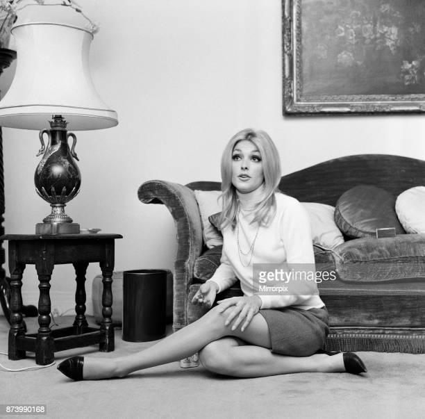 Sharon Tate, Actress and Model, aged 22 years old, pictured at her apartment in Belgravia, London, Friday 15th October 1965.