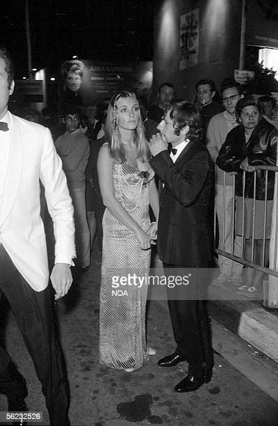 Sharon Tate and Roman Polanski Cannes festival 1968 HA168631