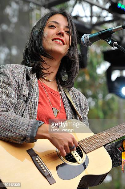 Sharon Van Etten performs at the Outside Lands Festival at Golden Gate Park on August 10, 2012 in San Francisco, California.