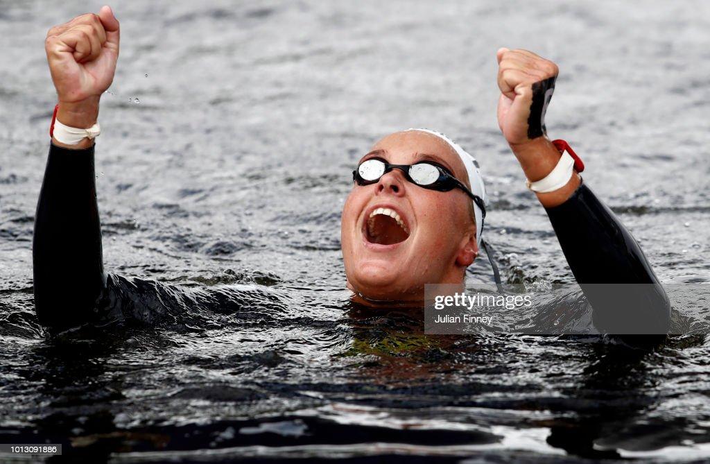Open Water Swimming - European Championships Glasgow 2018: Day Seven : Nachrichtenfoto