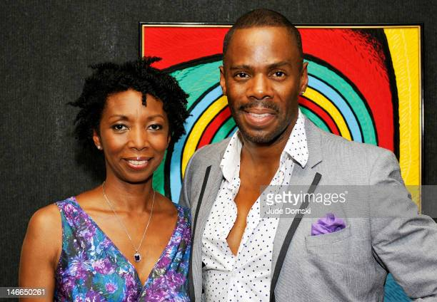 Sharon Washington and Colman Domingo attend the 5th annual Vineyard Theatre Emerging Artists Luncheon at The National Arts Club on June 21, 2012 in...