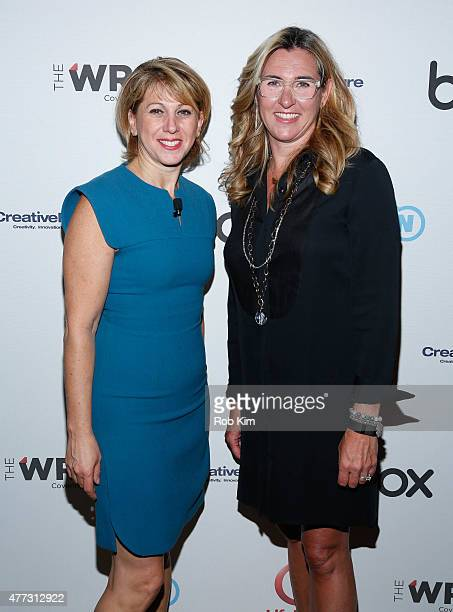 Sharon Waxman and Nancy Dubuc attend The Wrap's Power Women Breakfast at 10 on The Park on June 16 2015 in New York City