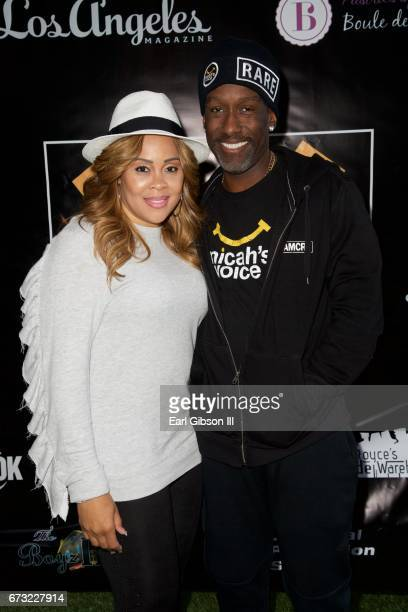 Sharonda Jones and husband Shawn Stockman attend Micah's Voice Benefet Condert at Private Residence on April 25 2017 in Los Angeles California
