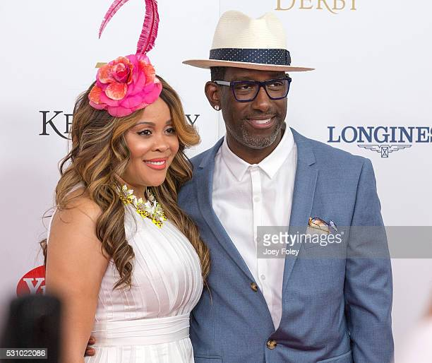 Sharonda Jones and singer Shawn Stockman of Boys II Men attends the 142nd Kentucky Derby at Churchill Downs on May 07 2016 in Louisville Kentucky
