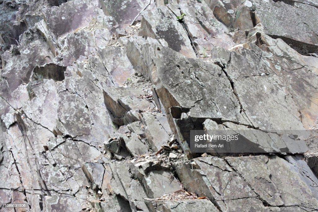 Sharp Gray Rocks on a Cliff : Stock Photo