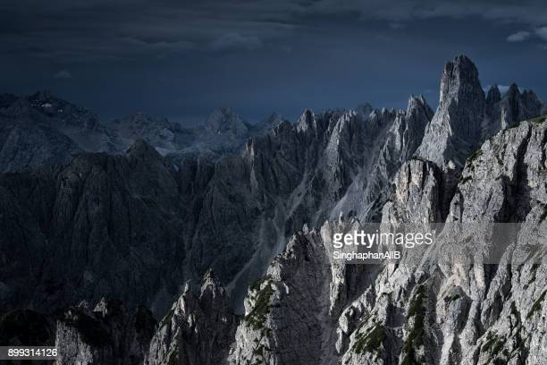 sharp peak of dolomites mountain range, Dolomites, Italy