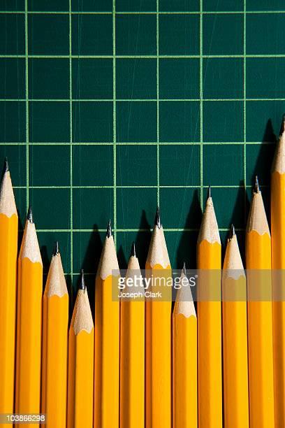 Sharp pencils making a graph