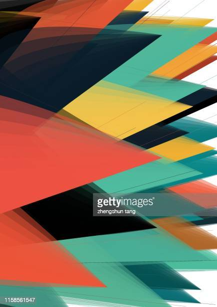 sharp stripe abstract background - curved arrows stock photos and pictures