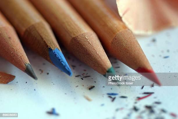 Sharpened pencil crayons
