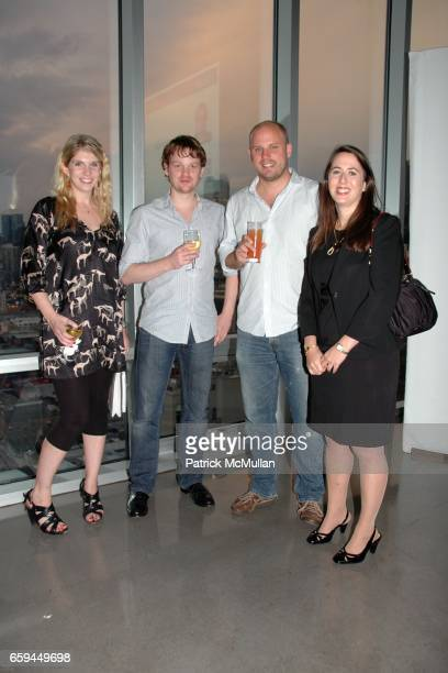 Sharron Courtney Barnes Alexander Nadig Fabian Menges and Suzanne Grossman attend THE ATLANTIC WIRE LAUNCH PARTY at The Glass Houses on September 22...