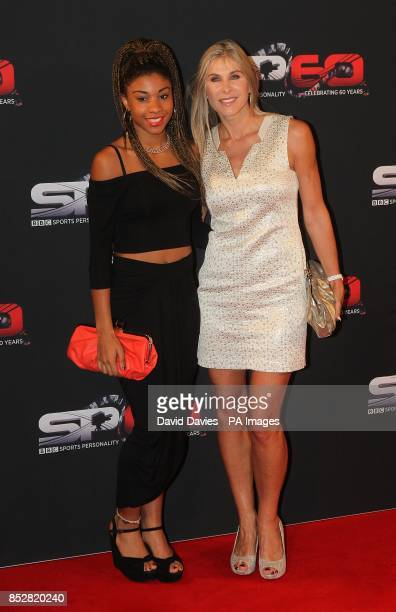 Sharron Davies and daughter Grace arriving for the Sports Personality of the Year Awards 2013 at the First Direct Arena London