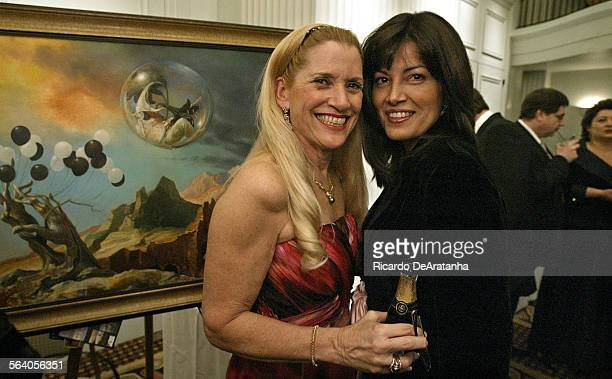 Sharry Mee, left, and Patti Barton, posing for a picture at the 6th Annual Russian Winter Ball and fundraiser event, at the Hotel Casa del Mar,...