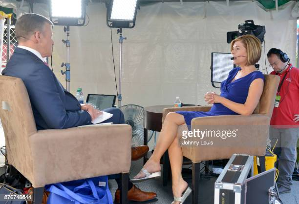 Sharyl Attkisson during a interview with CSPAN host during Peter Slen The Miami Book Fair at Miami Dade College Wolfson on November 19 2017 in Miami...