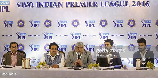 Shashank Manohar Head of the Board of Control for Cricket in India BCCI honorary secretary Anurag Thakur Indian Premier League Chairman Rajiv Shukla...