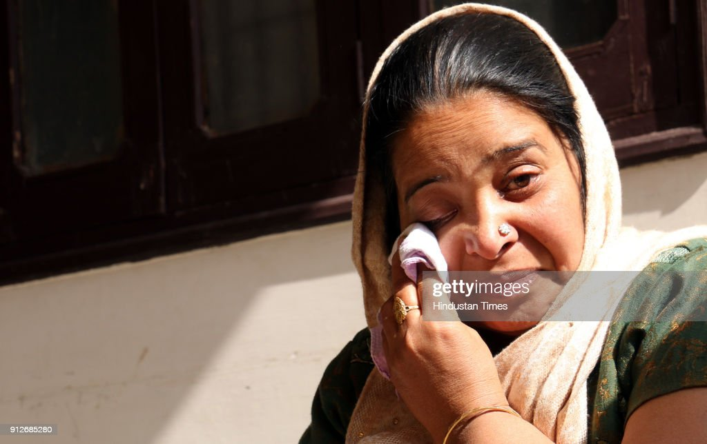 Shashi Bala mother of deceased Saurav Singla 14 who was killed in Maur bomb blasts at her home after bhog of path to mark anniversary of Maur bomb...