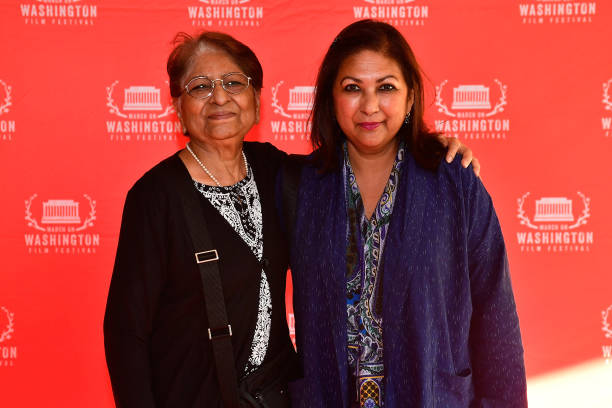 Shashi Saxena and Producer of `Life After` Rekha Tobaccowala appear at the March On Washington Film Festival on July 13 2018 in Washington DC