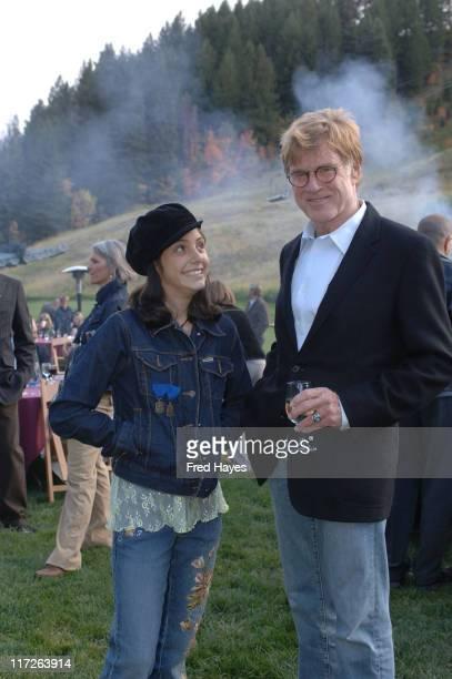 Shasta Baca and Robert Redford during Share The Beat at Sundance Resort in Sundance Utah United States