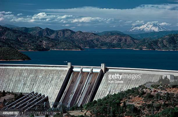 Shasta Dam face spillway