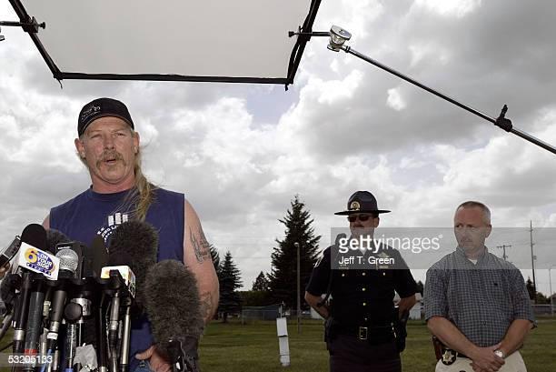 Shasta Groene's father, Steve Groene, talks to reporters at a press conference July 6, 2005 in Coeur D ?Alene, Idaho. Joseph Edward Duncan III has...