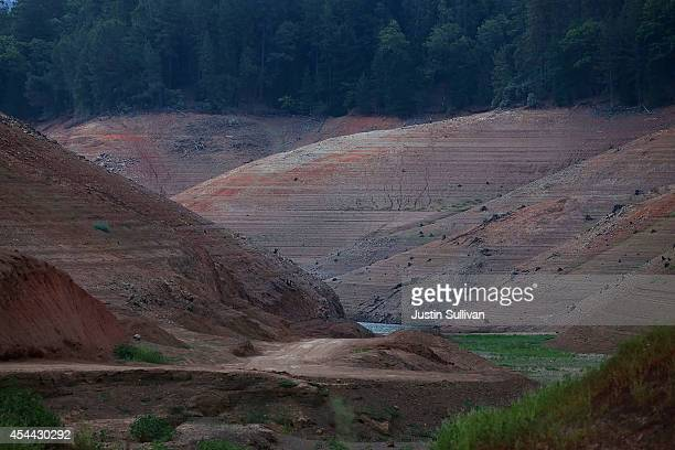 Shasta Lake's Bailey Cove is seen completely dry on August 31 2014 in Lakehead California As the severe drought in California continues for a third...
