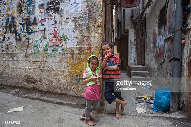 shatila refugee camp - syria stock pictures, royalty-free photos & images