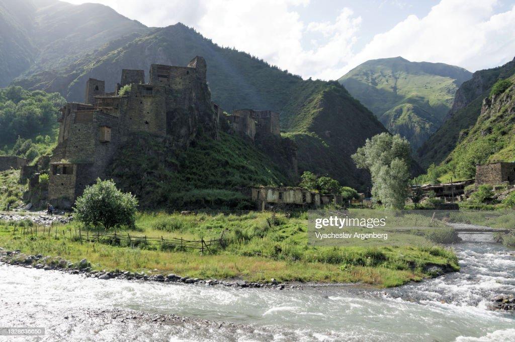 Shatili, Caucasus Mountains, Georgia : Stock Photo