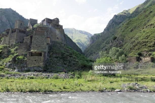 shatili, khevsureti, georgia - argenberg stock pictures, royalty-free photos & images