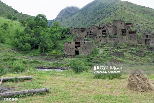 shatili medieval houses, georgia - argenberg stock pictures, royalty-free photos & images