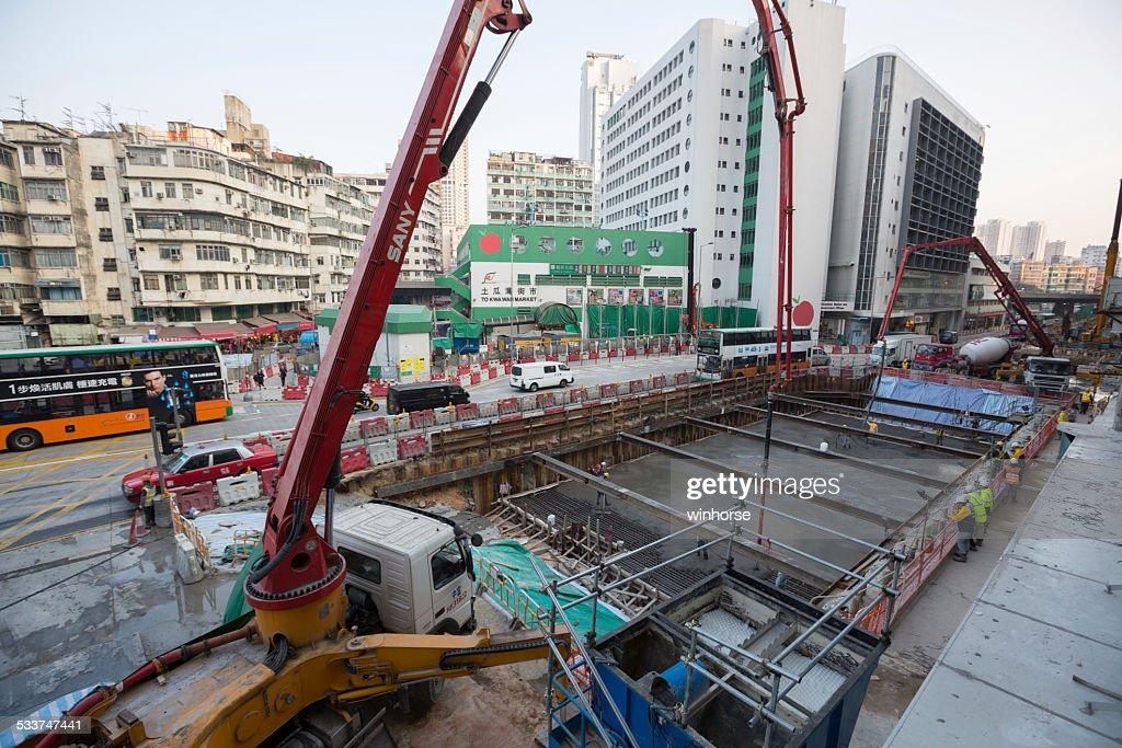 Shatin di costruzione Sito di collegamento centrale di Hong Kong : Foto stock