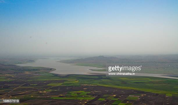 shatrunjay river, palitana - palitana stock photos and pictures