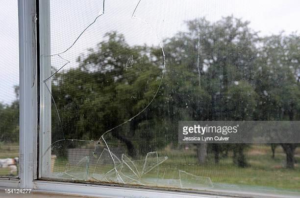 Shattered Glass Window Pane