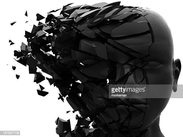 shattered mind #3 - dissolving stock pictures, royalty-free photos & images