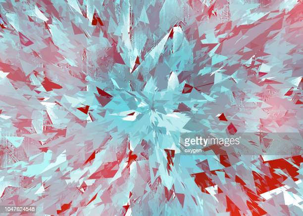 shattered pieces of glass on white with motion blur - demolishing stock photos and pictures