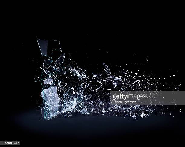shattering glass - breaking stock pictures, royalty-free photos & images