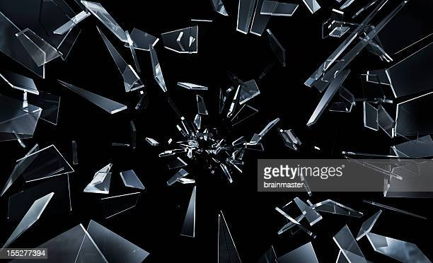 shattering window glass - shattered glass stock pictures, royalty-free photos & images