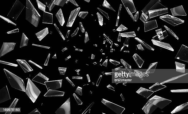 shattering window glass pieces - part of stock pictures, royalty-free photos & images