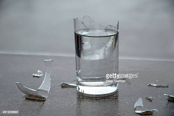 Shatterred water glass