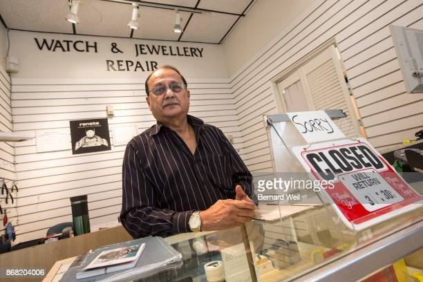 MISSISSAUGA ON OCTOBER 10 Shaukat Hussain of Mississauga talks about what will happen to the Right Time Inc store he works at which is located inside...