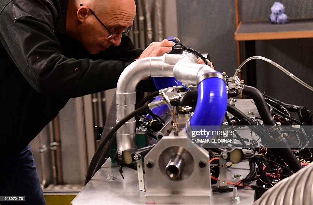 Shaul Yakobi, Inventor and Co-Founder of Aquarius Engines, works on ...