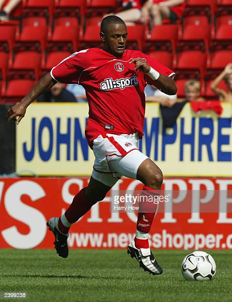 Shaun Barlett of Charlton Athletic runs with the ball during the pre-season friendly match between Charlton Athletic and NEC-Nijmegen on August 9,...