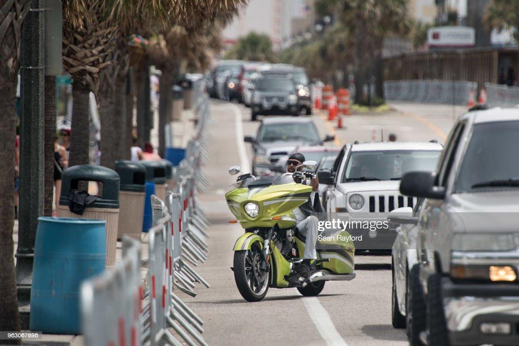 Motorcycle Enthusiasts Attend Black Bike Week In Myrtle Beach News Photo