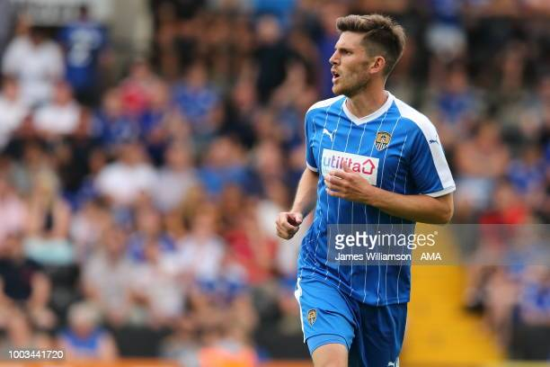 Shaun Brisley of Notts County during the preseason match between Notts County and Leicester City at Meadow Lane on July 21 2018 in Nottingham England