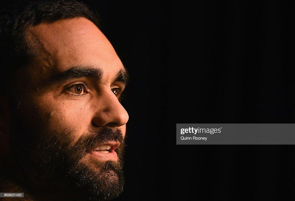 Shaun Burgoyne of the Hawks speaks to the media during a Hawthorn Hawks AFL media opportunity at Waverley Park on September 12, 2016 in Melbourne, Australia.