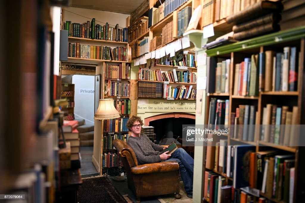 Shaun Bythell owner of The Book Shop, poses for a portrait inside the largest second hand store in the country on November 9, 2017 in Wigtown,Scotland. Wigtown has had official 'book town' status since 1998, with Mr Bythell owning Scotland's largest second hand book shop since 2001with a stock of over one hundred thousand books covering almost every imaginable subject.