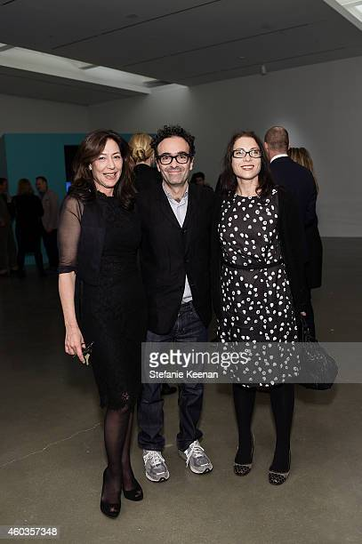 Shaun Caley Regen Jose Kuri and Ali Subotnick attend Gillian Wearing Opening on December 11 2014 in Los Angeles California