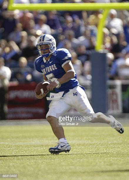 Shaun Carney of the Air Force Falcons carries the ball against the Washington Huskies at Quest Field on September 3 2005 in Seattle Washington Air...